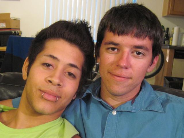 Two young gay guys who bareback