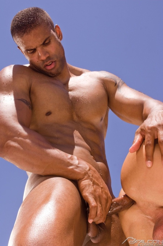 Hot muscled stud Robert Axel forces his cock into Rod's tight ass