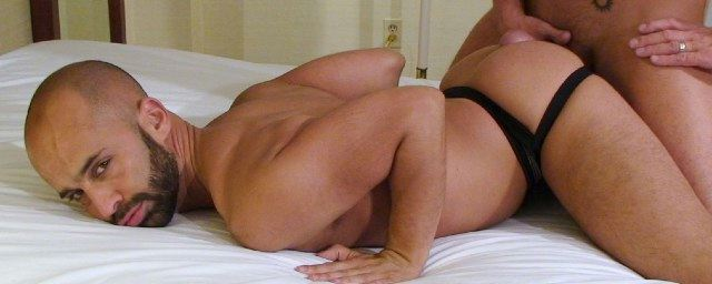 Hot beefy bottom ass in the air with a top working his hole