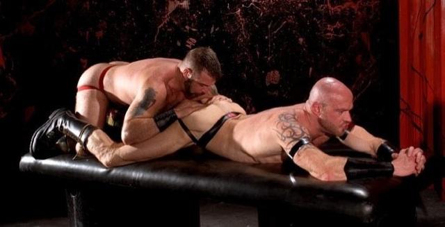 Danny pulls open Ken's beefy muscle ass