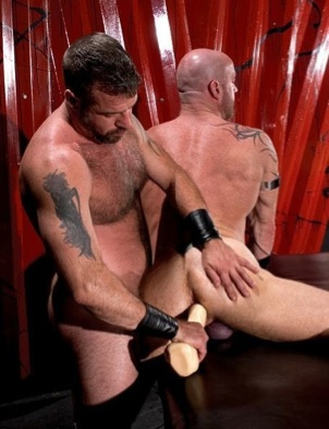 Danny forces a toy into Ken's tight muscle butt