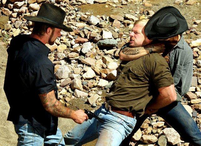 Two cowboys abduct a rape victim at gun point