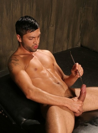 Dominic Pacifico sounding his dick.
