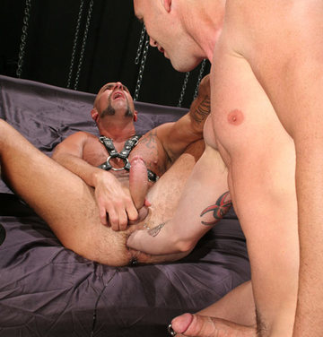 James works his bare fist further into Matthieu\'s hole