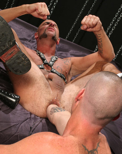 James almost elbow deep in Matthieu\'s hole
