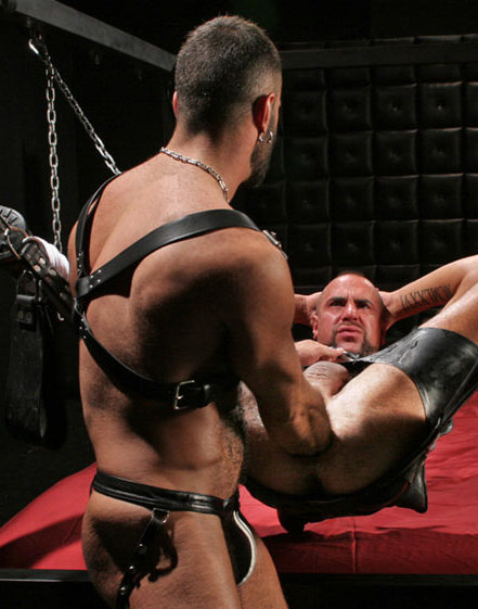 Matthieu Paris getting his ass fisted in sling