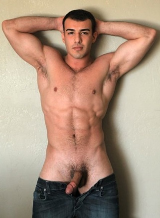 Big dicked jock with a breat chest