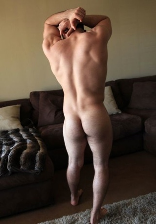Hot anked jock with a beefy ass