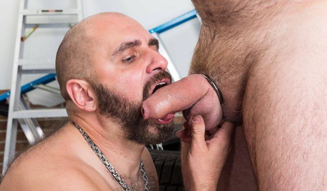 Thick uncut dick gets a blowjob