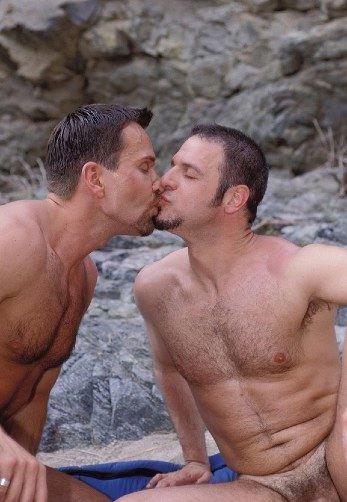 Matt and Eric kiss after barebacking