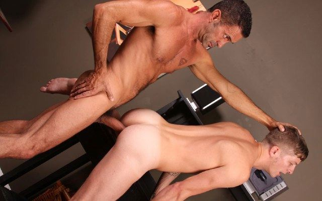 Lito rams his thick raw cock into Ian's smooth ass