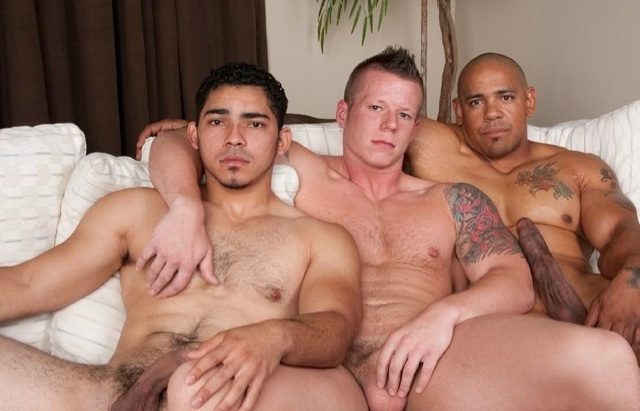 Miguel, Justin and Juan on the couch