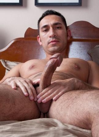 Diego Cruz strokes his cock