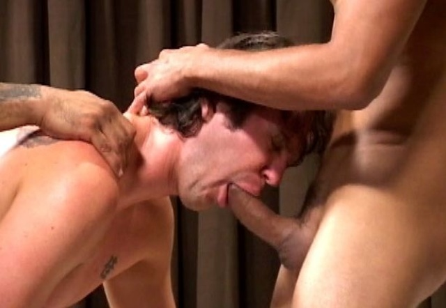 Luke sucking cock while getting fucked