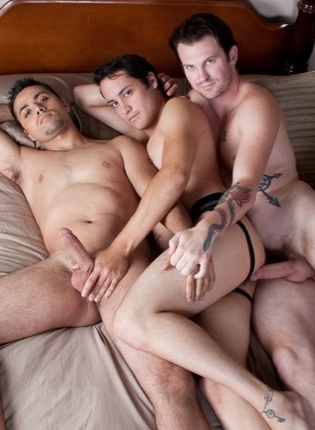 Josh, Luke and Orion in bed