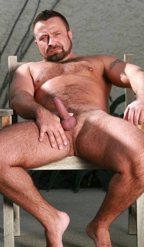 Humpy daddy holding up little dick