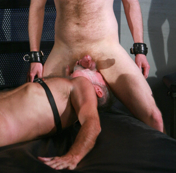 Karl chows down on sweaty boy balls