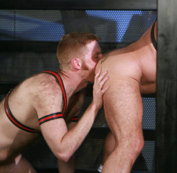 After restraining Daddy, Kegan eats his ass
