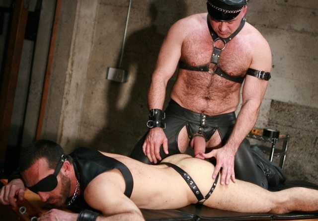 Furry Ray Stone about to fuck restrained bottom boy Xavier