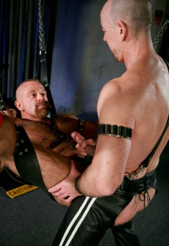 Rob Thomas getting his ass fucked in a sling by Greg Mitchell