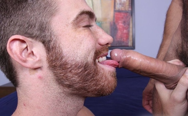 Trent gets his tongue under Arpad's foreskin