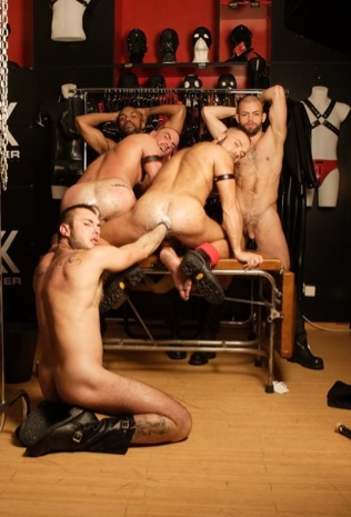 Macanao Torres gets his hands in Matthieu and David's hungry holes