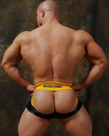 Amazing big muscled ass of a young bodybuilder