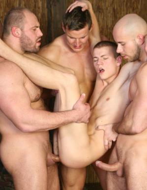 Young jock getting gangraped bareback