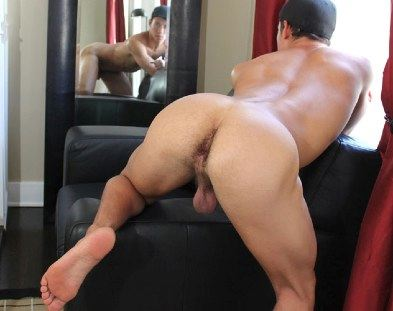 Smooth Latin jock with beefy hairy ass