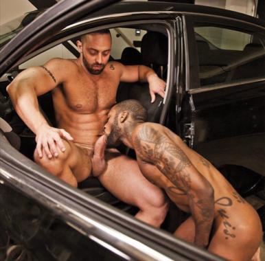 hot rod interracial porn - HotRod sucking Fabio Stallone's dick ...
