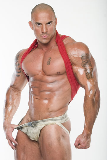 Hot muscle guy posing in a dirty jock strap