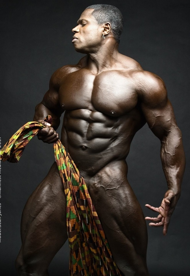 Sean Jones showing his huge hulk of a body