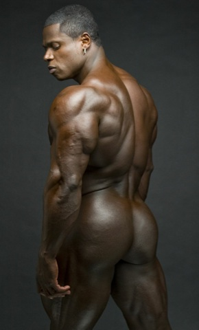 Sean Jones showing off his massive frame and hard muscular ass