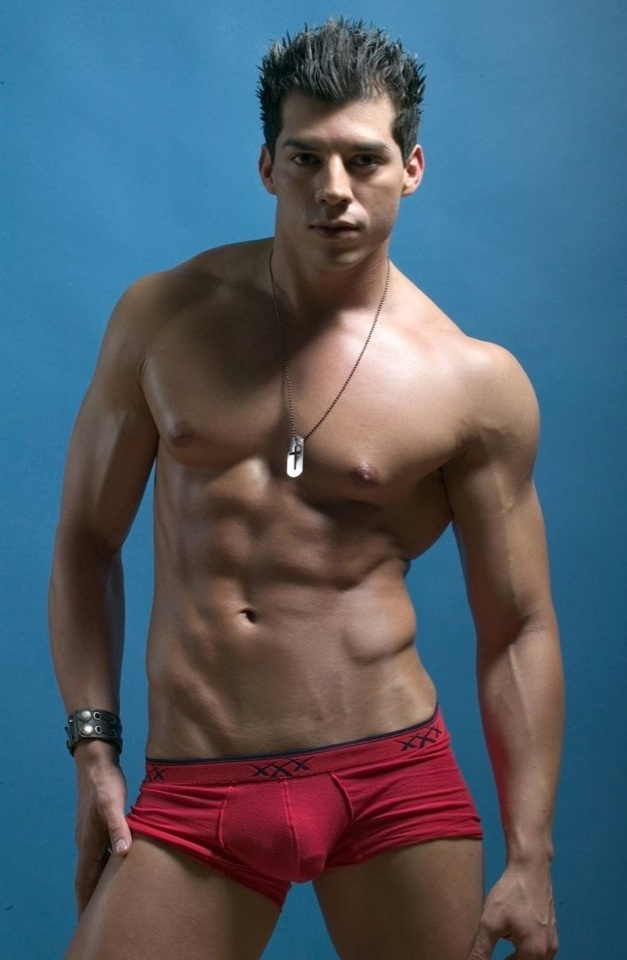Mario De Leon is a hot jock with a muscular smooth body