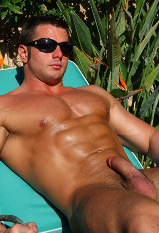 Frank Defeo oiled up naked