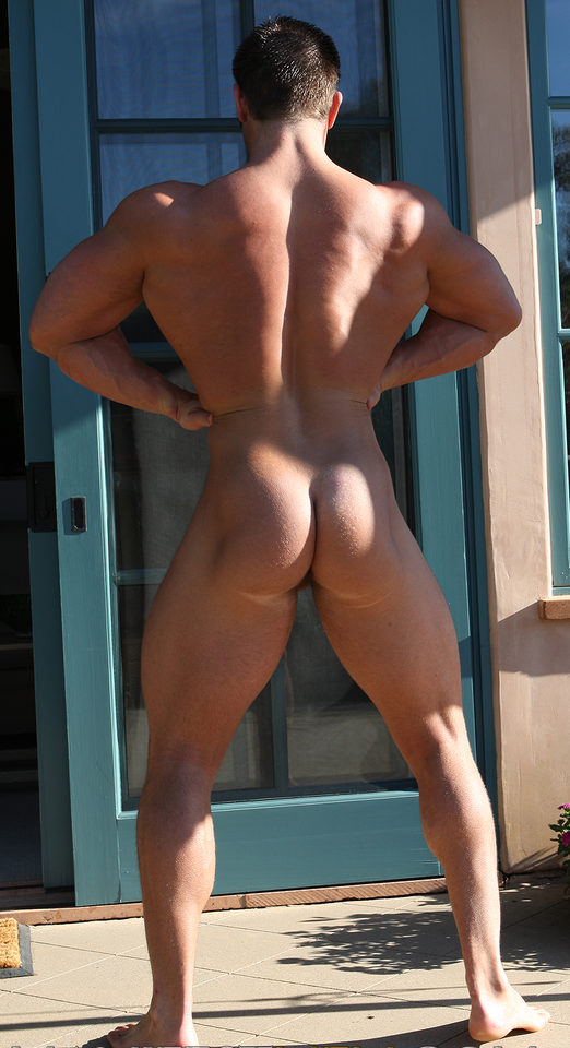 Frank Defeo shows his muscled ass and back