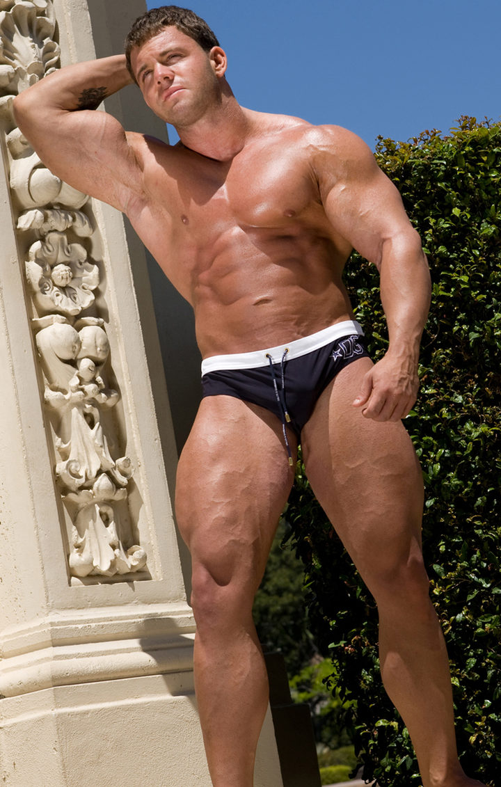 BodyBuilder A-Bomb showing his ripped muscle body