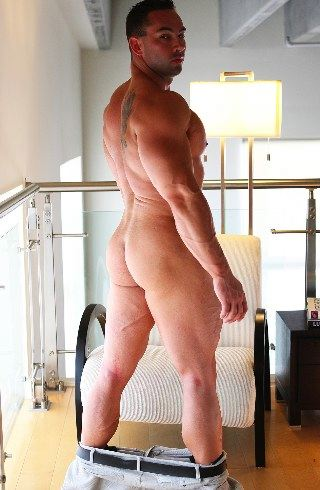 Smooth round bubble butt of body builder
