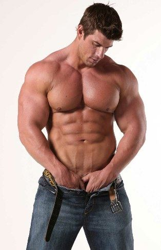 Smooth bodybuilder with his shirt off