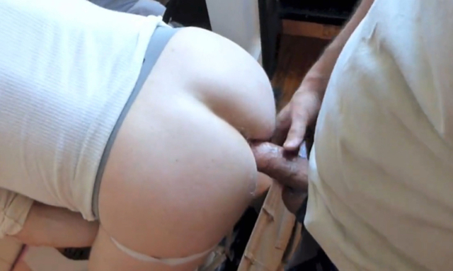 Big hard cock fucking a smooth ass