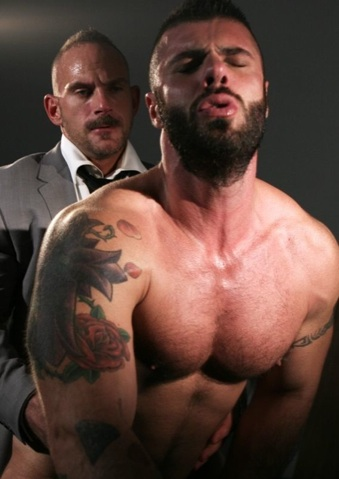 Scruffy Alex Marte getting his ass pounded by Samuel Colt