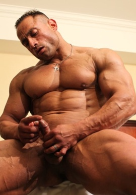 Gil plays with his precum