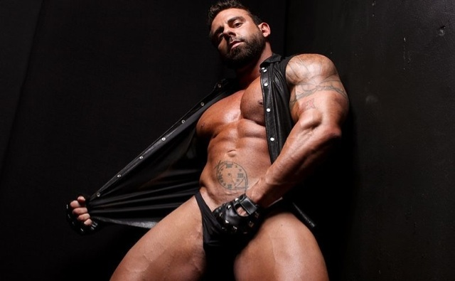 Xavier exposes his hard and muscular body