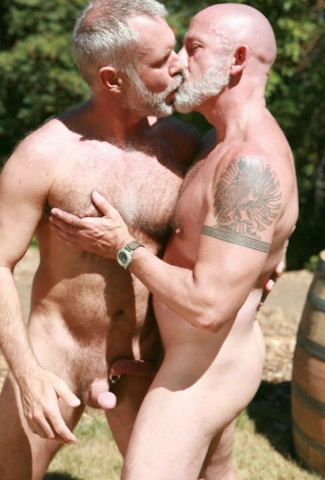 Allen Silver and Tom Dixter make out
