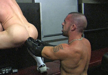 Jorge opens up Christian\'s big smooth fuck hole with his fist
