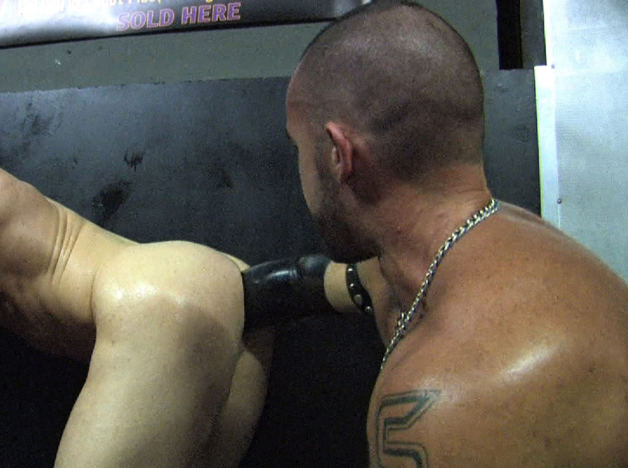 Christian takes Jorge\'s fist elbow deep in his smooth hole