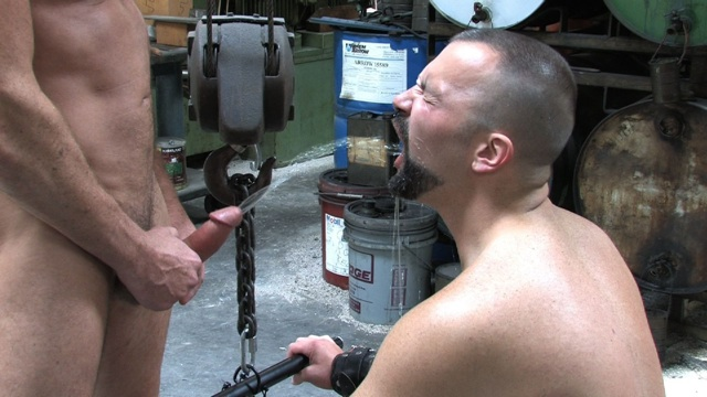 Boy Filmore hosed down with a hot stream of piss
