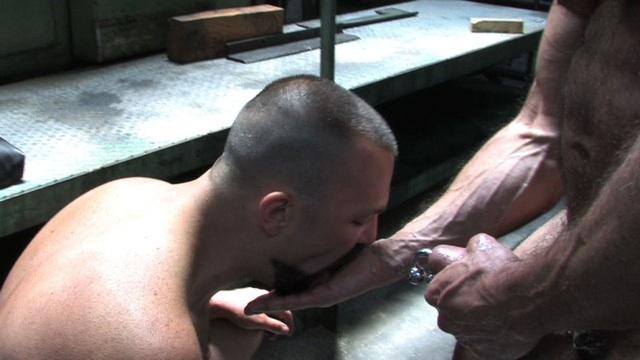Boy Filmore licks Jim's cum from his hand