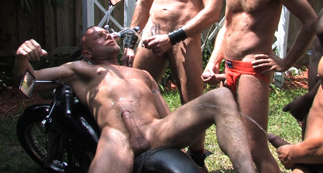 Chad Brock gets hosed down by the guys
