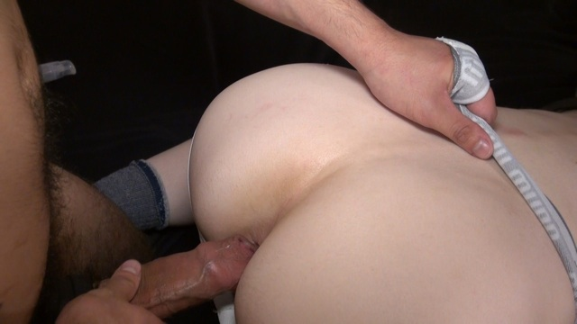 Alejandro's fat uncut cock ready to breed Heath's ass